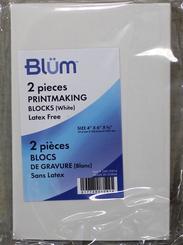 """Blum Printmaking Block 2pk White 4x6"""""""