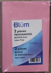 """Blum Printmaking Block 2pk Pink 4x6"""""""