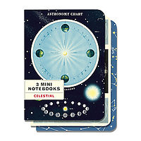 Cavillini Mini Notebooks 3pk Celestial