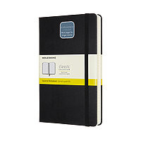 Moleskine Expanded 5x8 Grid Pages Black Cover 400pg