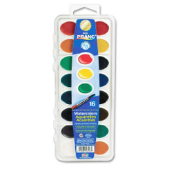 Prang Watercolour Set with Brush 16pk