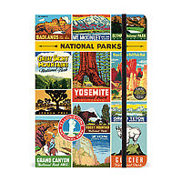 "Cavallini Large Lined Hardcover Notebook 8.5x6"" National Parks"