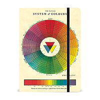 "Cavallini Large Lined Hardcover Notebook 8.5x6"" Colour Wheel"