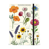 """Cavallini Large Lined Hardcover Notebook 8.5x6"""" Wild Flowers"""
