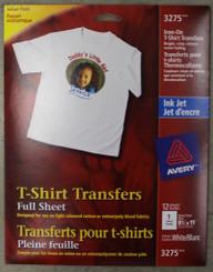 SALE! Avery T-Shirt Transfer Sheet 8.5x11 EACH