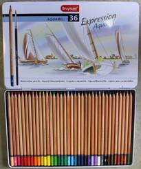Bruynzeel Watercolour Pencils Tin Set 36pk with Brush