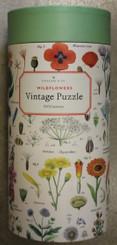 Cavallini Puzzle 1000 pieces Vintage Wild Flowers
