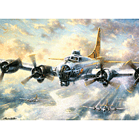 Paint by Numbers Kit Large Set Flying Fortress