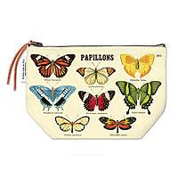 Cavillini Vintage Pencil Case Pouch Papillons Butterflies