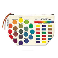 Cavillini Vintage Pencil Case Pouch Colour Wheel