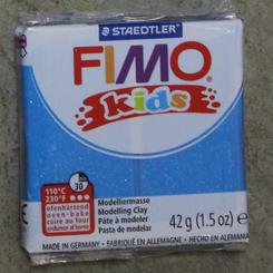 Staedtler Fimo Kids Oven Bake Clay 42g (1.5oz) Glitter Blue