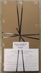 Beeswax Candle Kit White Honeycomb Texture *in store only