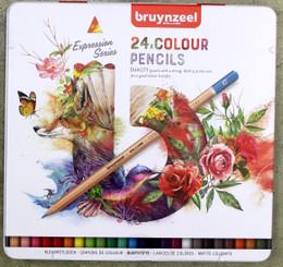 Bruynzeel Pencil Crayons Tin Set 24pk