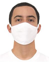 Gildan 100% Cotton Face Mask White Adult **Final Sale