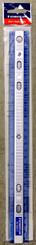 """Staedtler 12"""" Shatterproof Plastic Binder Ruler Blue/Silver"""