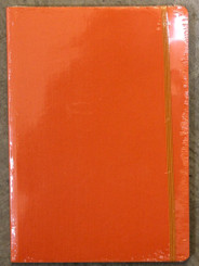 "Fabriano 6x8.5"" Dot Grid Journal w/elastic 80pg Orange"