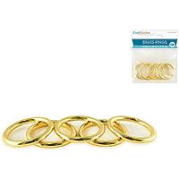 "Brass Rings 5pk (1/8"" thick) 1"" diametre"