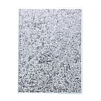 """Lined Journal Soft Cover 6x8"""" Glitter Silver"""