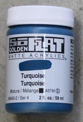Golden SoFlat Matte Opaque Acrylic 2oz Turquoise Sr 4