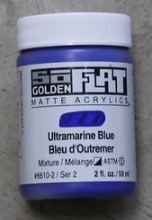 Golden SoFlat Matte Opaque Acrylic 2oz Ultramarine Blue Sr 2