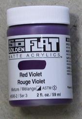 Golden SoFlat Matte Opaque Acrylic 2oz Red Violet Sr 3