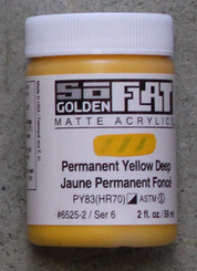Golden SoFlat Matte Opaque Acrylic 2oz Permanent Yellow Deep Sr 6