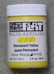 Golden SoFlat Matte Opaque Acrylic 2oz Permanenet Yellow Sr 2