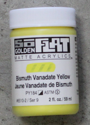 Golden SoFlat Matte Opaque Acrylic 2oz Bismuth Vanadate Yellow Sr 9