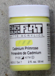 Golden SoFlat Matte Opaque Acrylic 2oz Cadmium Primrose Sr 7