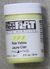 Golden SoFlat Matte Opaque Acrylic 2oz Pale Yellow Sr 1