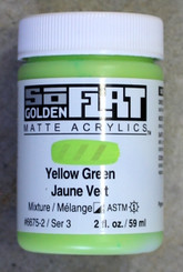 Golden SoFlat Matte Opaque Acrylic 2oz Yellow Green Sr 3