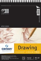 Canon Drawing Pad Coil 90lb 24pg Cream 9x12""