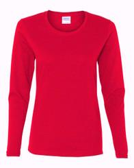 CLEARANCE! Gildan T-Shirt Red 100% Cotton Long Sleeve