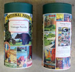 Cavallini Puzzle 1000 pieces Vintage National Parks