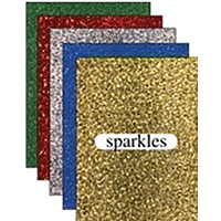Holographic Sticker Sheets 5pk Sparkle assorted colours
