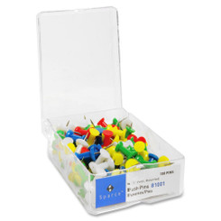 Sparco Push Pins Colours 100pk