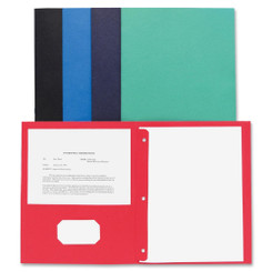 Business Source Pocket Folder with Fasteners 25pk