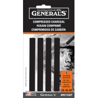 General's Charcoal 4pk Compressed