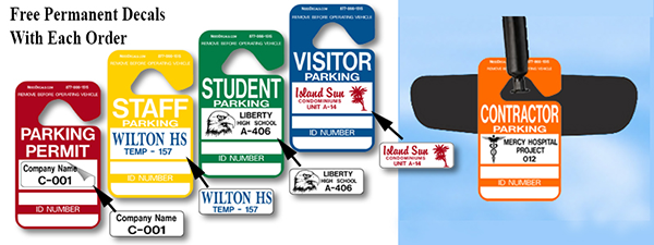 Hang Tag Parking Permits