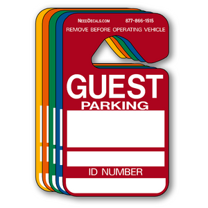 Guest parking permit hang tags are ready to ship. Order Today.
