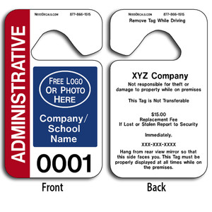 Custom Automotive Rear View Mirror Hang Tags allow endless design possibilities and project a professional image.