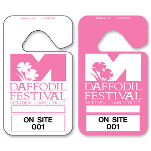 Pink Hanging Parking Permits - Standard