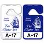 Plastic Hang Tags allow endless design possibilities and project a professional image. Available in over 30 Stock Ink Colors or unlimited custom colors. These durable Parking Hang Tags are printed on heavy duty .035 inch material to give you the strongest parking permit available. Order today and get Free Setup, Free Numbering and Free Logo.