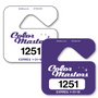 Hang Tags Parking allow endless design possibilities and project a professional image. Available in over 30 Stock Ink Colors or unlimited custom colors. These durable Parking Hang Tags are printed on heavy duty .035 inch material to give you the strongest parking permit available. Order today and get Free Setup, Free Numbering and Free Logo.