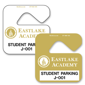 Hang Tags For Cars allow endless design possibilities and project a professional image. Available in over 30 Stock Ink Colors or unlimited custom colors. These durable Parking Hang Tags are printed on heavy duty .035 inch material to give you the strongest parking permit available. Order today and get Free Setup, Free Numbering and Free Logo.