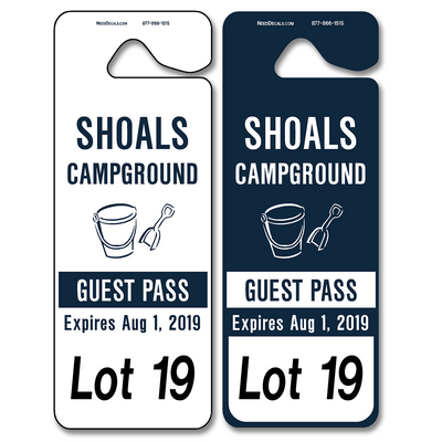 Car Hanger Tags allow endless design possibilities and project a professional image. Available in over 30 Stock Ink Colors or unlimited custom colors. These durable Parking Hang Tags are printed on heavy duty .035 inch material to give you the strongest parking permit available. Order today and get Free Setup, Free Numbering and Free Logo.