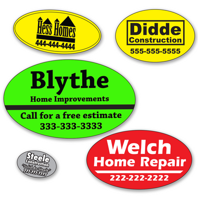 Small Oval Roll Labels - ONE Color