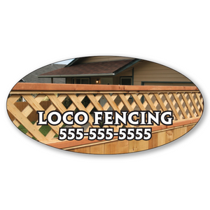 "4"" x 2"" Full Color Custom Outdoor Oval Decals"