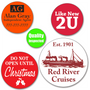 Mini Custom Round Labels - ONE Color