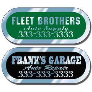 Silver Service Stickers